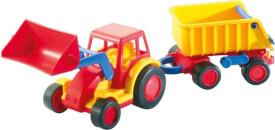 Wader Basic Traktor mit Schaufel und Anhänger