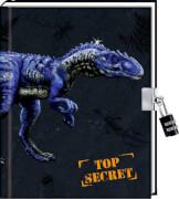 Coppenrath Verlag 94645 Buch ''T-Rex World - Tage- und Notizbuch Top Secret'' (gebunden), inkl. Zahlenschloss, ab 6 Jahre