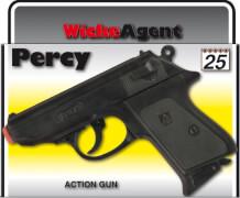25er Agentenrevolver Percy ca. 15,8 cm, Box