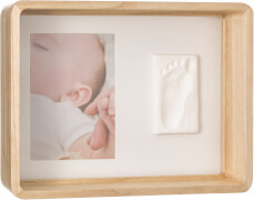 Baby Art eckige Geschenkbox aus Holz mit Gipsabdruck